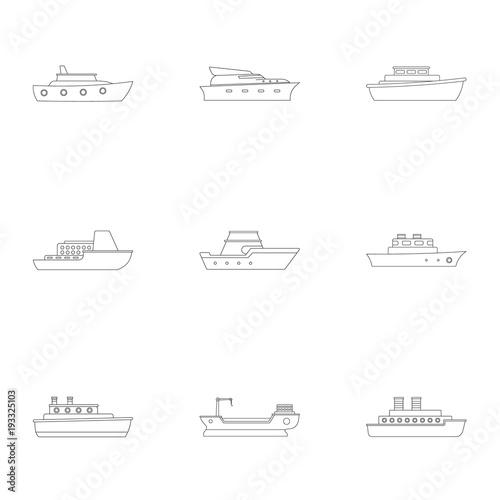 Cuadros en Lienzo  Yachtsman icons set