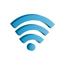 3d Wifi Icon Vector Illustrati...