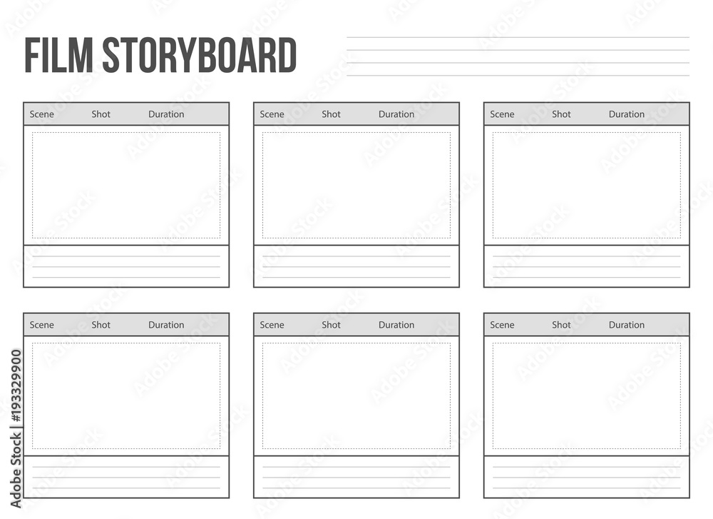 Fototapety, obrazy: Creative vector illustration of professional film storyboard mockup isolated on transparent background. Art design movie story board layout template. Abstract concept graphic shot and scene element