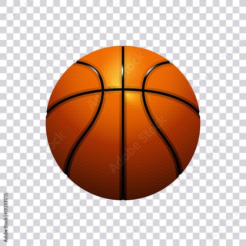 Fotografia  Basketball vector illustration isolated on transparent background
