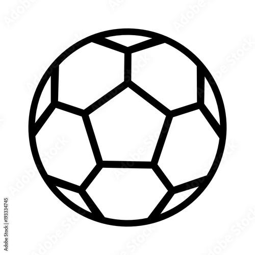 Fototapeta piłka nożna ikona obraz