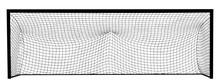 Soccer Goal Net Construction Vector Silhouette Illustration Isolated On White Background. Empty Football Goal.
