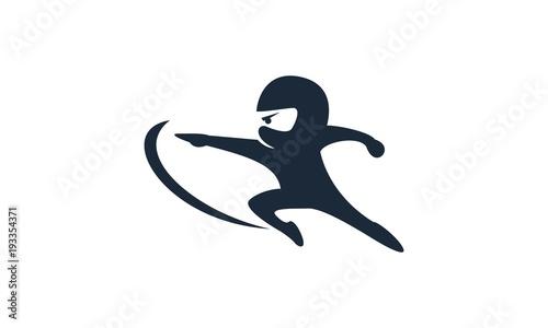 Photo Ninja Kids Character Logo