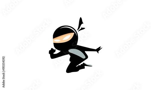 Ninja Kids Character Logo Canvas Print