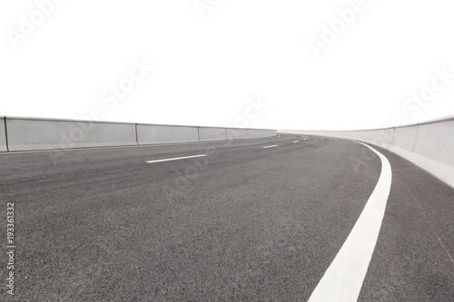 Fotomural  material of highway in white background
