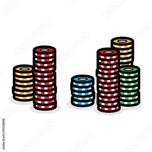 Cartoon Poker Chips плакат