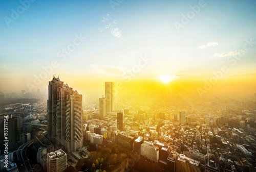 Fototapeta  Asia Business concept for real estate and corporate construction - panoramic mod