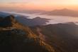 morning mountain view with sunbeam and haze at Doi Pha Tang chiang rai thailand