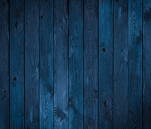 Dark Blue Wood Texture Or Background
