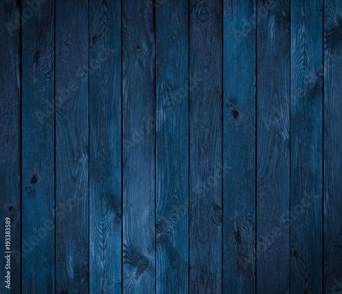 Fototapeta dark blue wood texture or background obraz