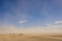 Wide Sand Desert In Drought Cl...