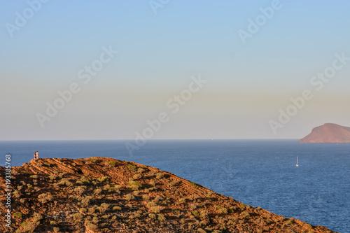 Deurstickers Canarische Eilanden Valley in the Canary Islands