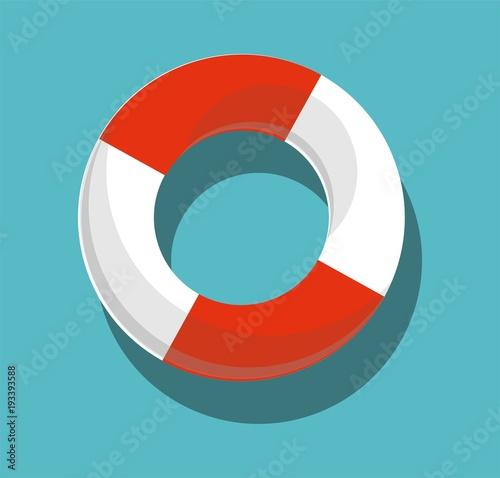 Obraz na plátně Lifebuoy isolated on blue background
