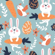 Seamless Vector Easter Pattern...