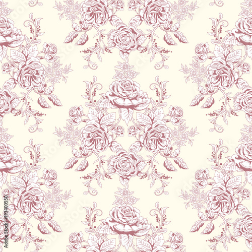 bezszwowe-tlo-wektor-rysunek-odreczny-bukiet-wiktorianskich-roz-ogrodowych-zabytkowy-styl