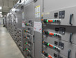 Electrical switchgear room,Industrial electrical switch panel.