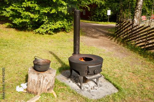 Photo  Norwegian vintage stove