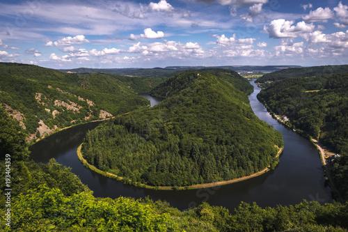 Foto auf Gartenposter Fluss Saarschleife