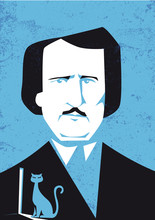 Edgar Allan Poe Vector Illustr...