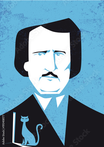 Fotomural Edgar Allan Poe vector illustration