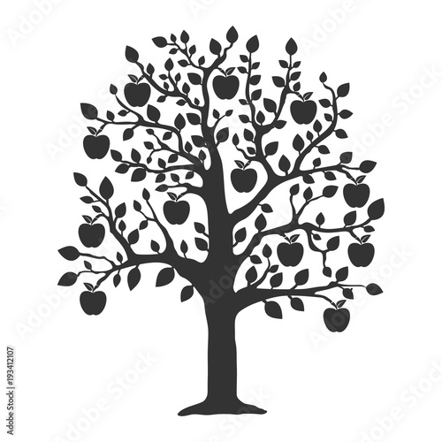 Obraz na plátne Apple tree icon