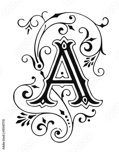 Letter A Ornament Decoration #isolated #vector - 193417715