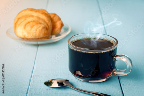 Good morning black coffee cup Poster