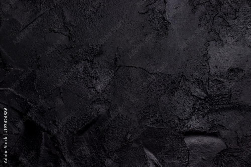 Fototapety, obrazy: Black textured concrete