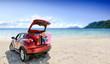 Summer car and beach
