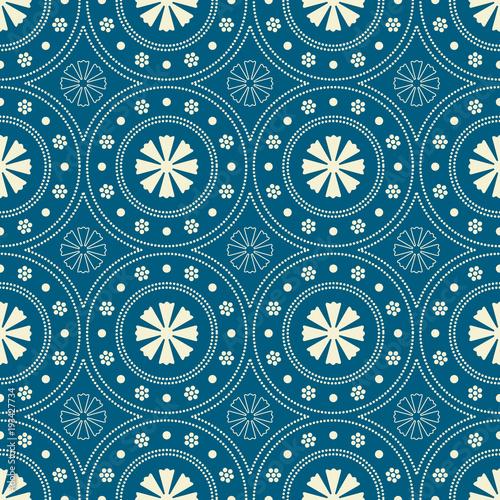 Foto Seamless background southeast Asian retro aboriginal traditional art textile pat