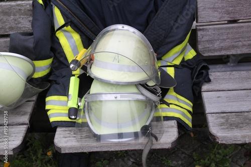 Poster Bleu nuit Feuerwehr im Einsatz 112