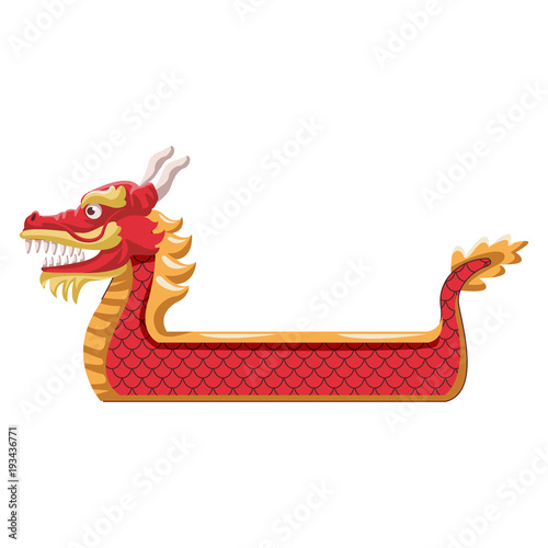 Dragon boat symbol icon vector illustration graphic design Canvas Print