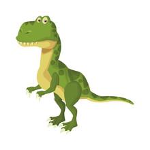 Trex Dinosuar Cartoon Icon Vector Illustration Graphic Design
