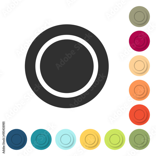 Farbige Buttons Leerer Teller Buy This Stock Vector And Explore