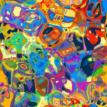 Artistic Mashed Up Abstract Ba...