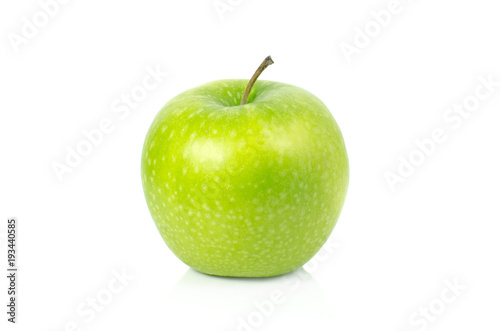 Canvas green apple isolate on white background