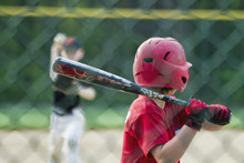 Youth Batter Watching Pitcher