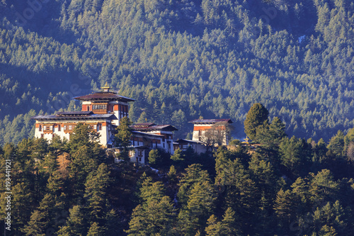 Bumthang Dzong monastery in the Kingdom of Bhutan. Fototapeta