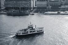 Passenger Ferry Enters Port Of Helsinki