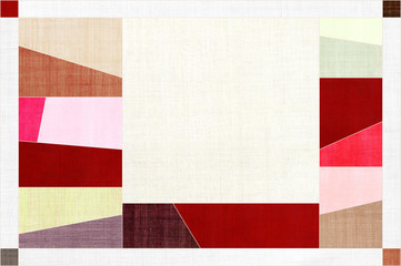 Korean traditional patchwork background of ramie fabric pattern.