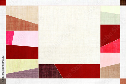 Photo  Korean traditional patchwork background of ramie fabric pattern.