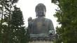 zoom in shot of tan tian giant buddha in hong kong, china