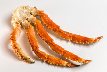 Claw Of A King Crab On A White...