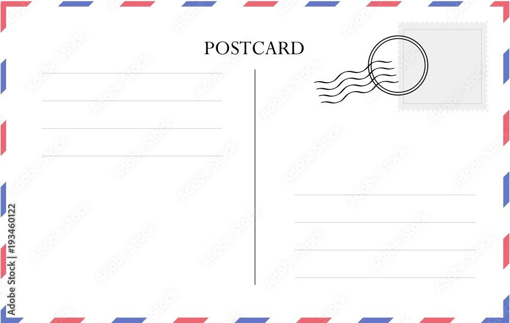 Fototapeta Postcard template vector