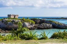 Mayan Ruins In Riviera Maya, C...