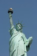 Statue of Liberty. view of upper body