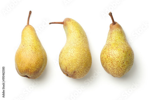 Pears Isolated on White Background Wallpaper Mural