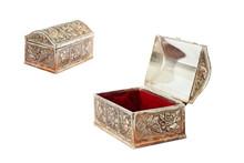 Metal Box. Casket. Elegant Metal Box For Jewelry