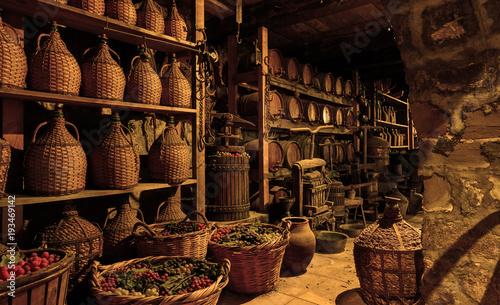 Fotografie, Tablou Old wine cellar