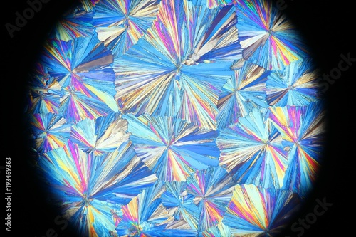 Art and science, microscope image of crystals of common painkiller acetylsalicyl Wallpaper Mural